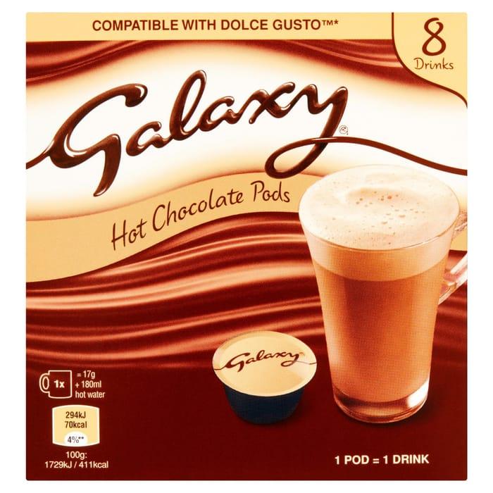 Galaxy Hot Chocolate Pods 8 X 17g (136g)