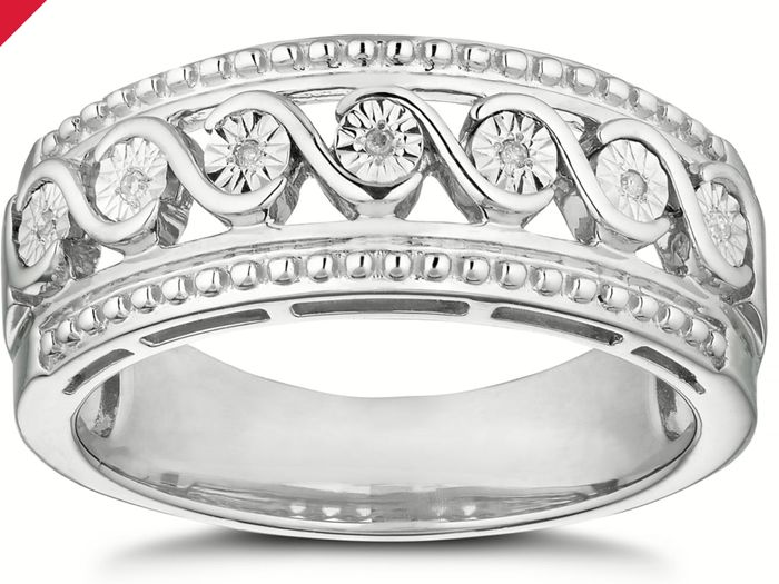 Silver Diamond Eternity Ring on Sale From £139 to £39