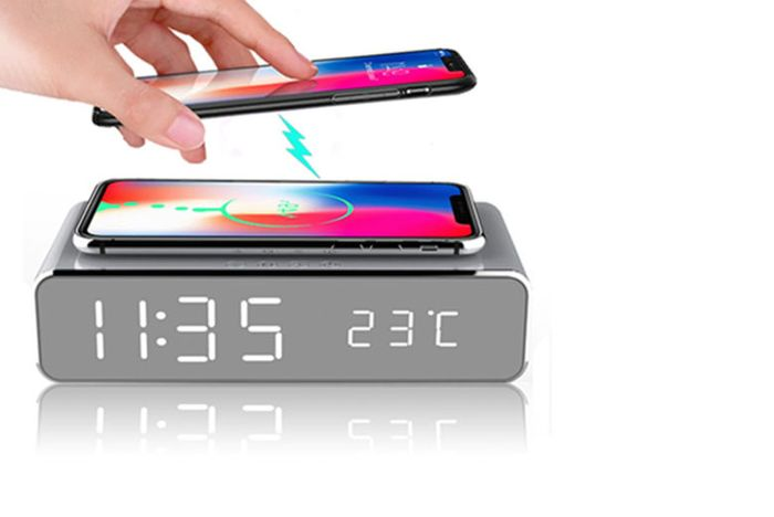 Lowest Ever Price! 2-in-1 LED Alarm & Wireless Charging Station