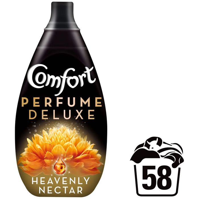 CHEAP! Comfort Perfume Deluxe Heavenly Nectar Fabric Conditioner 58 Washes 870ml