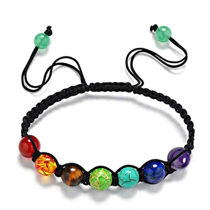 Cheap Yesiidor 7 Chakra Reiki Rainbow Quartz Beads Bracelet - Only £1.95!