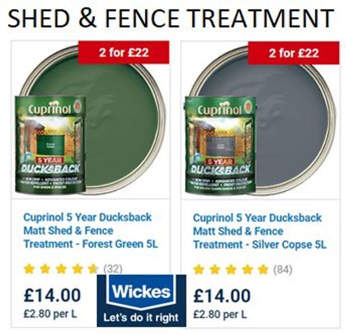 Cuprinol Ducksback Exterior Wood Treatment 5L for Sheds & Fences