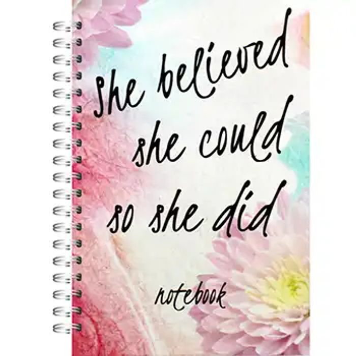 A5 Wiro She Believed She Could Lined Notebook