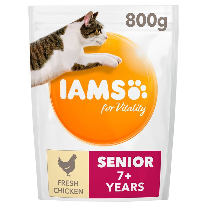 Iams Cat Food Senior with Chicken 800G