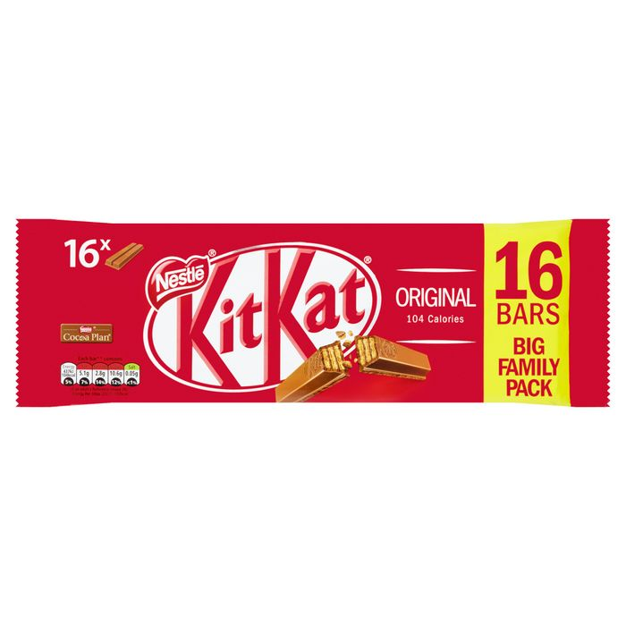 Kit Kat 16Pk 2 Finger Milk 331.2G - Save £0.99