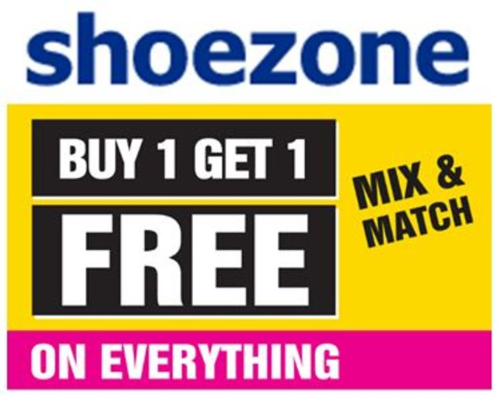 CHEAP! SHOEZONE - Buy One Get One Free + Free Delivery + £5 Off £25 Spend