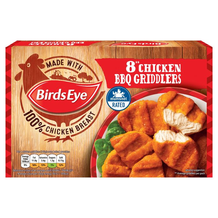2 for £2.50 Birds Eye 8 Chicken BBQ Griddlers