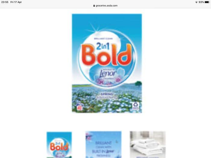 Bold 2in1 Washing Powder Spring Awakening 40 Washes
