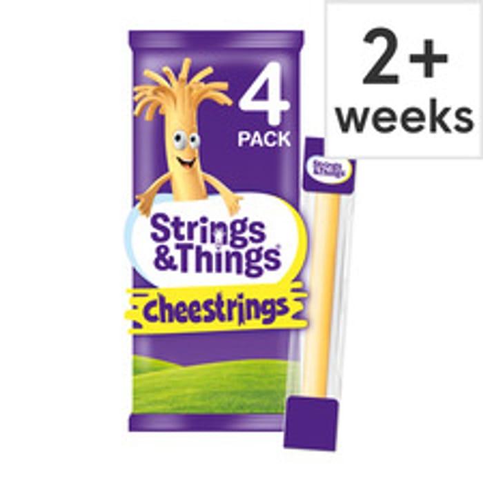 Cheestrings Cheddar 4 Pack 80G