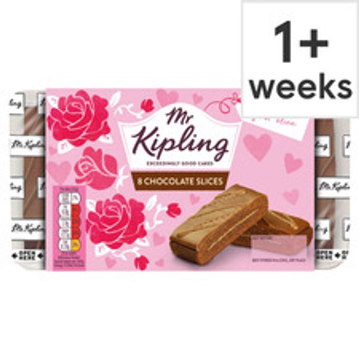 Mr Kipling Chocolate Slices 8 Pack