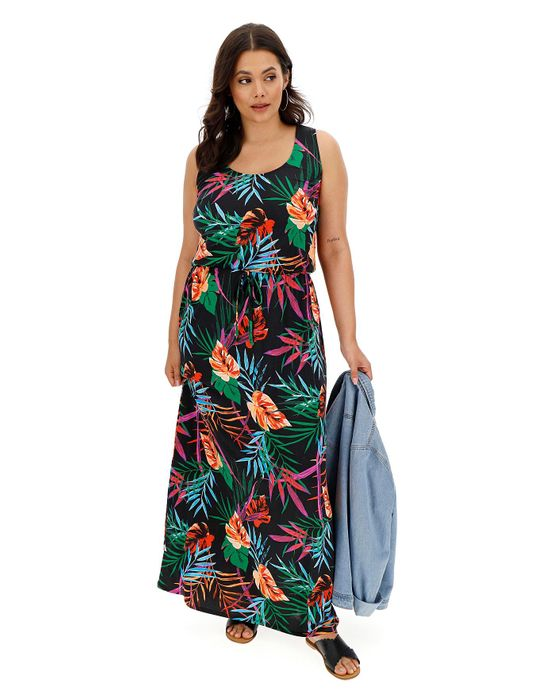 Floral Print Vest Maxi Dress Down From £25 to £13.5