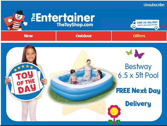 Bestway Family Pool Free Next Day Delivery 25 At The Entertainer Latestdeals Co Uk