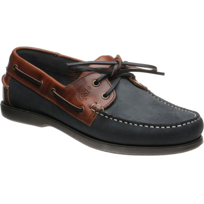 Herring Shoes - 'Padstow' Rubber-Soled Deck Shoes