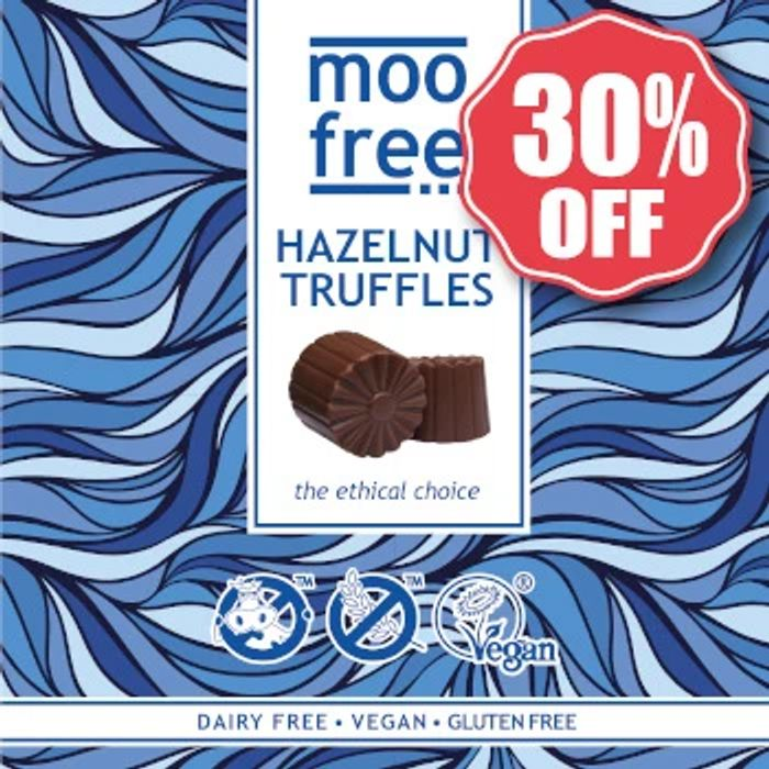 Save 30% on Dairy Free Chocolate Hazelnut Truffles