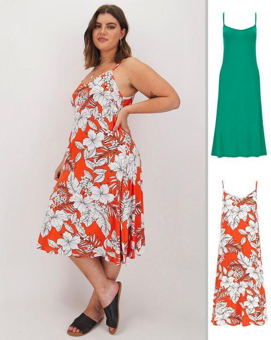 2 Pack Midi Cami Dresses - Save £12.5