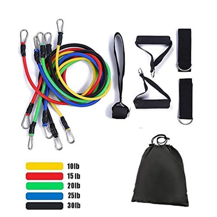 11 PCS Resistance Bands Set - 1/2 Price