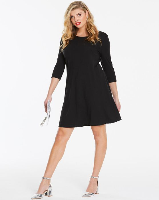 Black Long Sleeve Swing Dress - Only £7!