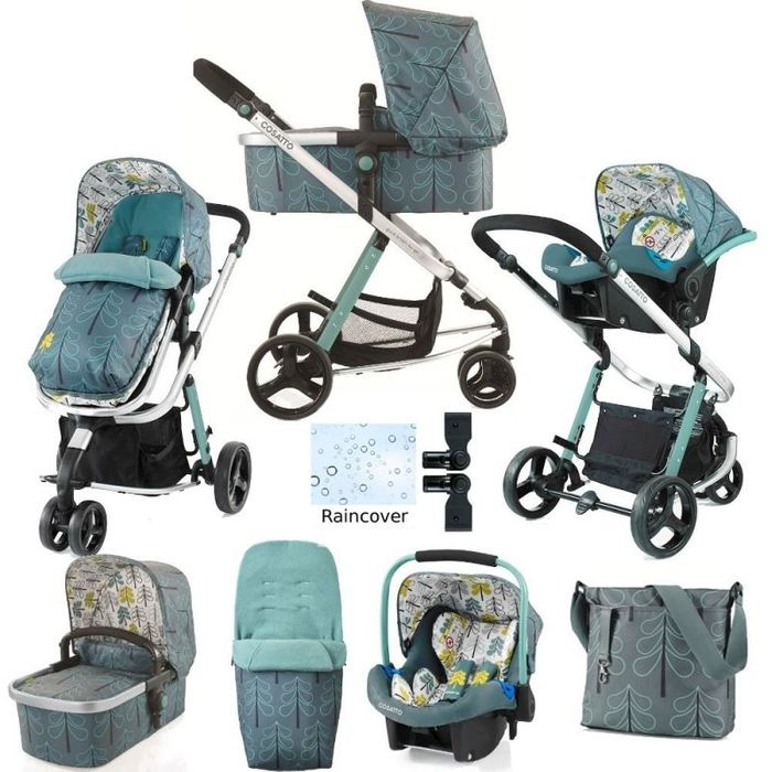 Cosatto Giggle 2 Travel System & Accessories Bundle-Fjord (New)