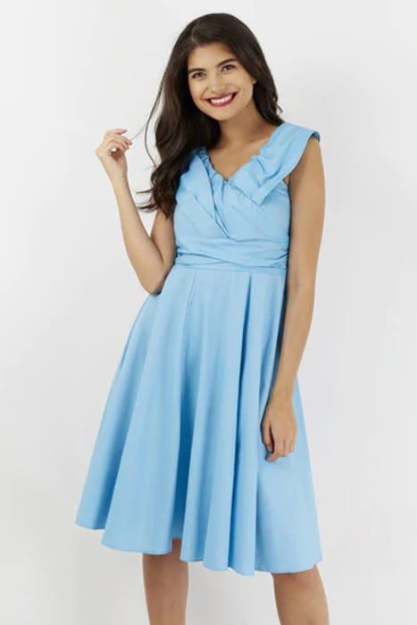 Blue Cross over Paneled Dress - Only £15!