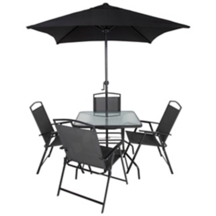 Miami Charcoal / Red 6 Piece Garden Patio Set - Only £99!