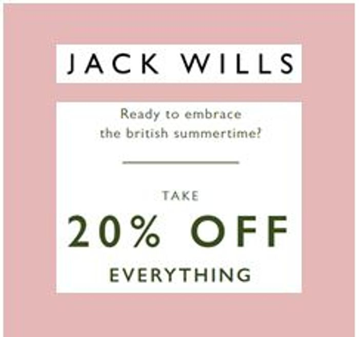 Jack Wills - 20% off Everything