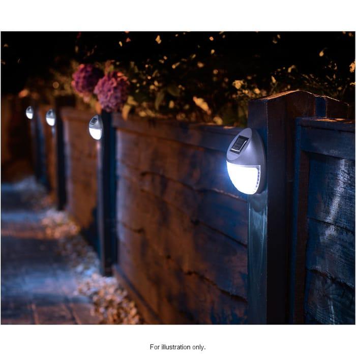 Solar Powered Fence Lights 10pk