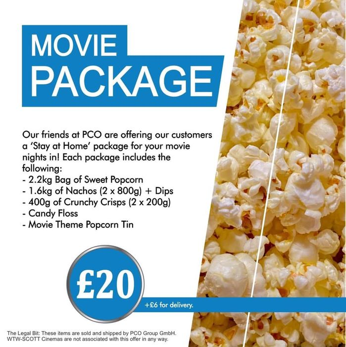 CHEAP! Cinema Food Package-2.2kg Popcorn, 1.6kg Nachos+Candy Floss+risps + Dips!
