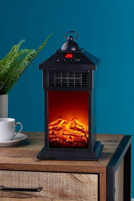 Cheap Personal Fireplace Lantern Style Heater at Studio