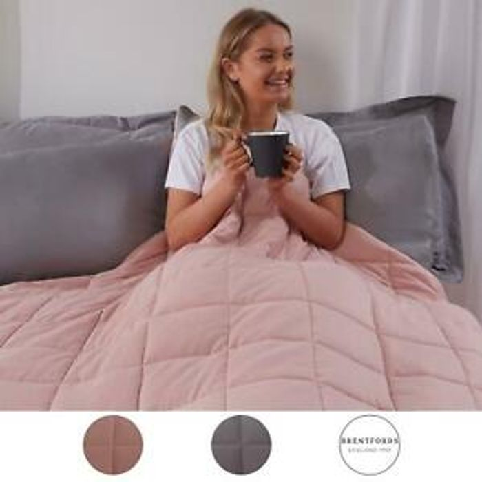Weighted Therapy Blanket for Anxiety - Single, Double or King Size from £21.99