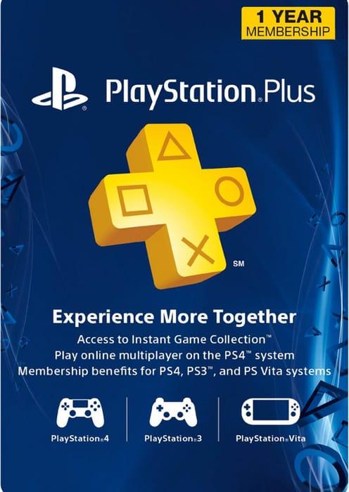 1-Year PlayStation plus Membership USA Region £27.59 at CDKeys