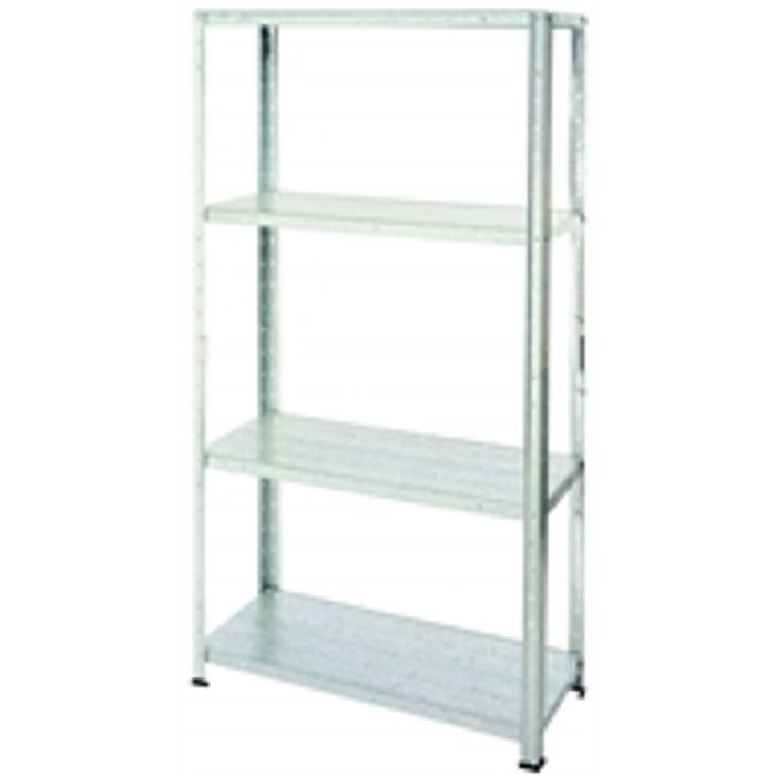 Galvanised Steel 4 Shelf Storage Unit Available in Stores