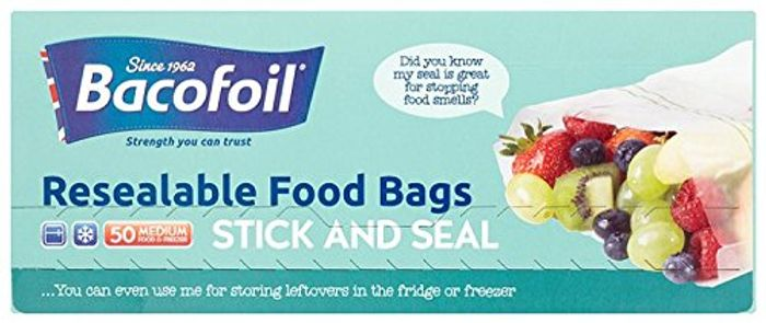 Pre-Order Baco Press N Seal Sandwich Bags, Pack of 50 Bags