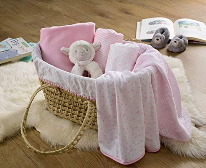 Clair De Lune My First Sleep Moses Gift Basket - Pink