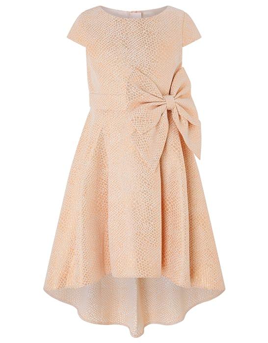 Kalia Rose Gold Jacquard Xmas Dress