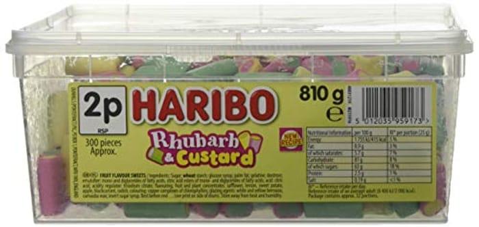 Haribo Rhubarb & Custard Candy Pieces - 300 Pack
