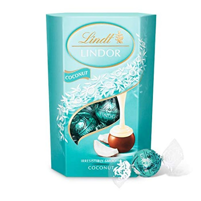 Lindt Lindor Coconut Chocolate Truffles Box - Approximately 16 Balls, 200g