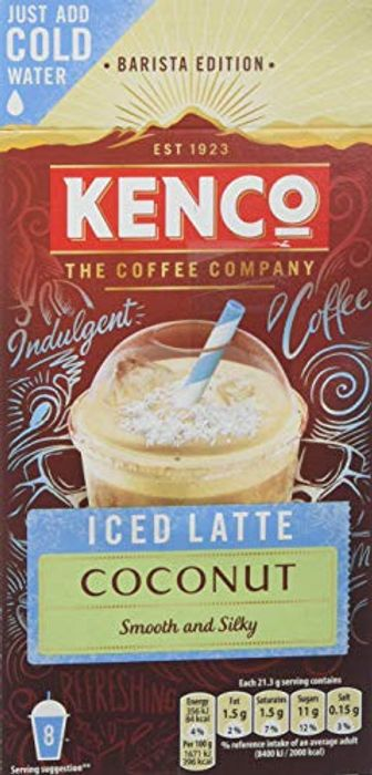 Kenco Iced Latte Coconut Instant Coffee 8 Sachets 230 G (5 Boxes)