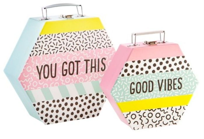 Memphis Modern Suitcases - Set of 2