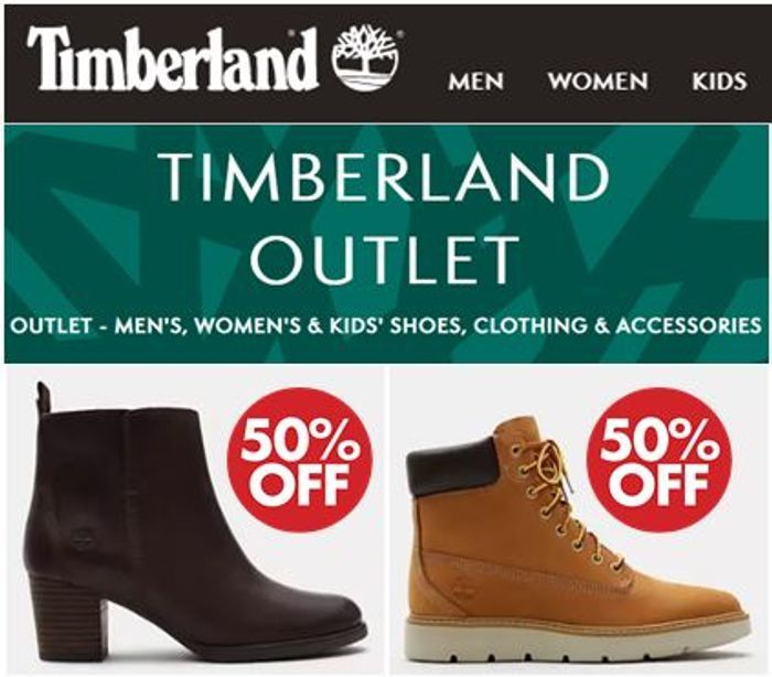 Timberland Outlet - HALF PRICE BOOTS! + FREE DELIVERY