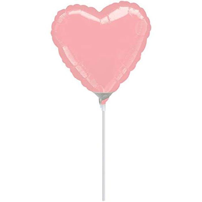 Heart Metallic Pastel Pink Foil Balloon Party Decoration-1 Pc