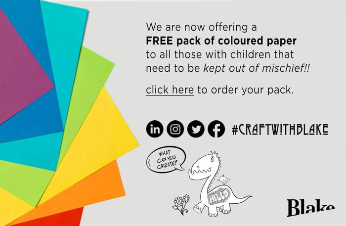 Free Coloured Pack of Paper from Blakes Envelopes