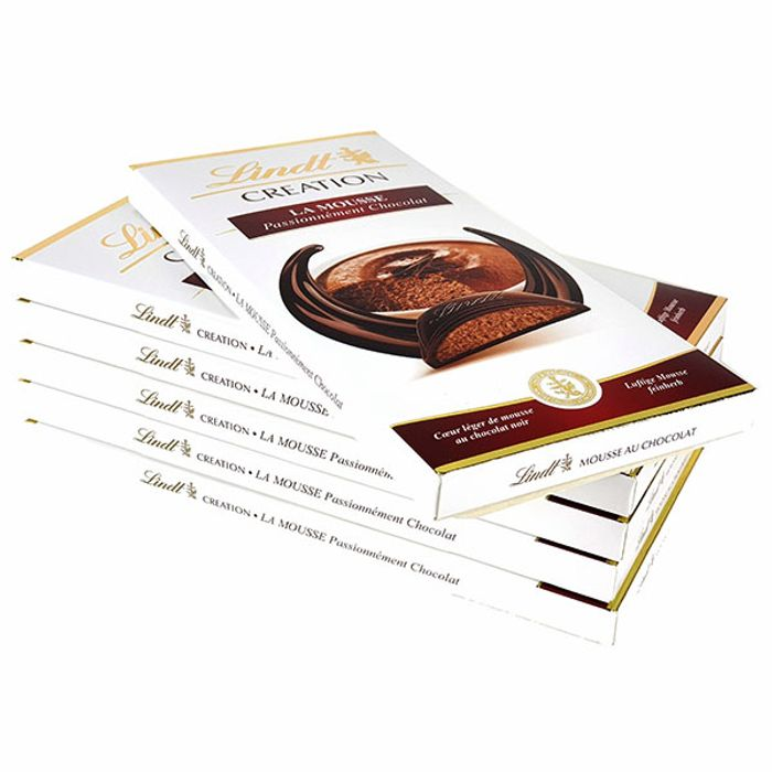 6 X Lindt Creation Chocolate Mousse 140g Chocolate Bars