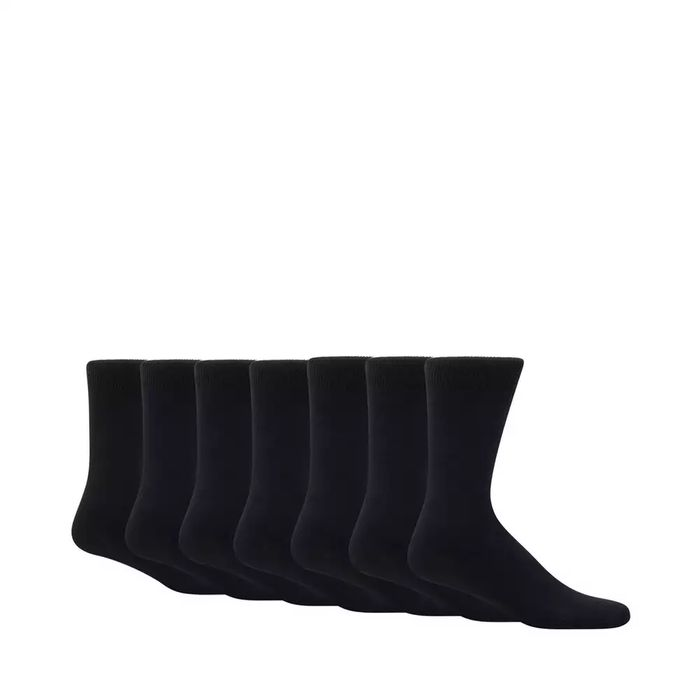 Men's 7 Pairs of Black Socks - save £2.10 (code for free delivery)