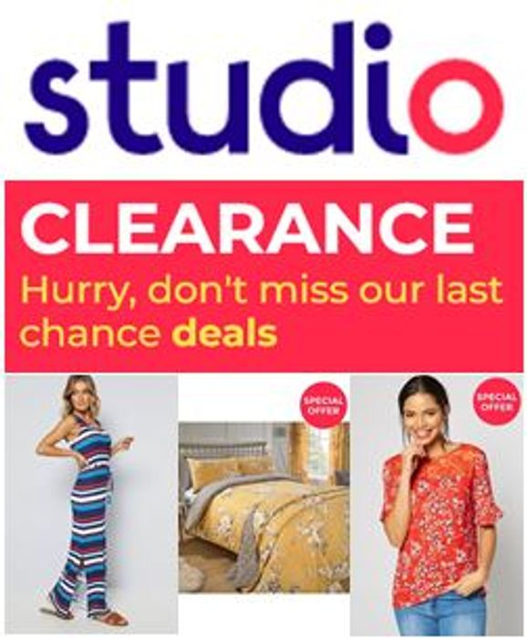 Best Price! STUDIO CLEARANCE - 2,300 ITEMS TO CLEAR at STUDIO -