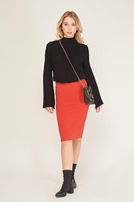 Plain Midi Skirt Reduced by 50%