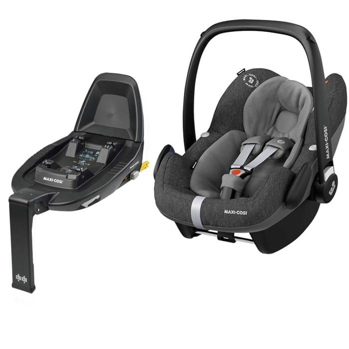 Maxi Cosi Pebble Pro Group 0+ Car Seat with Familyfix ONE Base-Sparkling Grey