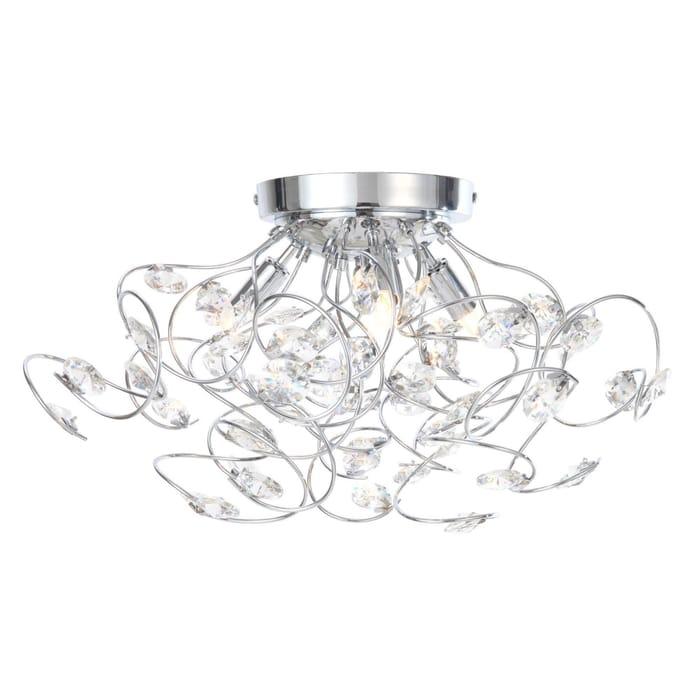Crystal Flush Ceiling Light