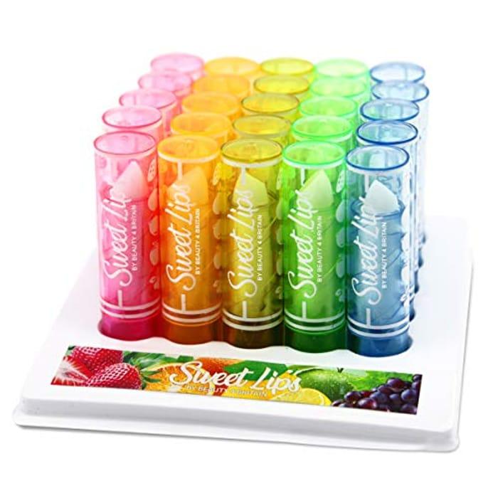 25 X Lip Balm Lipstick Fruity Wholesale Mixed Flavours WHOLESALE JOB LOT UK