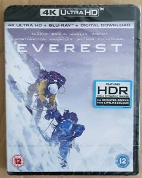 Everest - 4K Ultra HD Blu Ray New/ Sealed 44%off at Cardboardstory4 / eBay