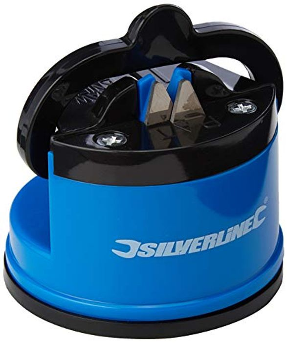 Silverline 270466 Tabletop Blade & Knife Sharpener with Suction Base